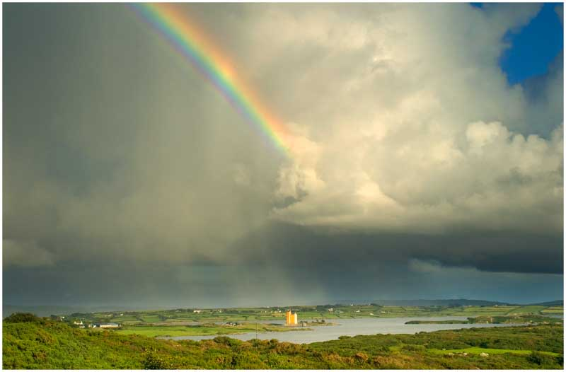 Kilcoe Castle and Rainbow
